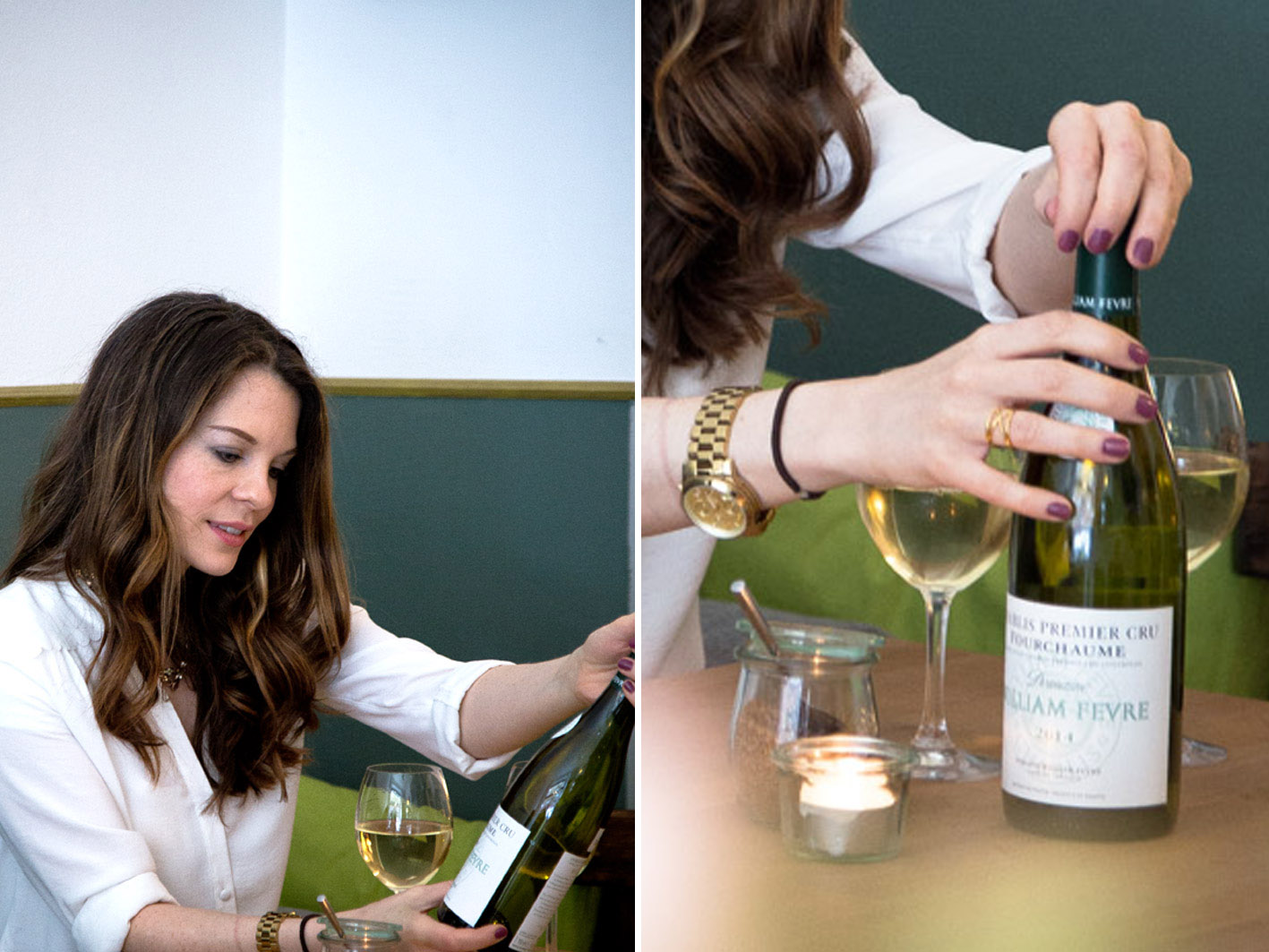 chablis weinflasche