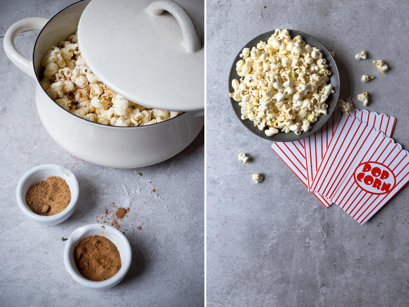 popcorn mit zimt und zucker