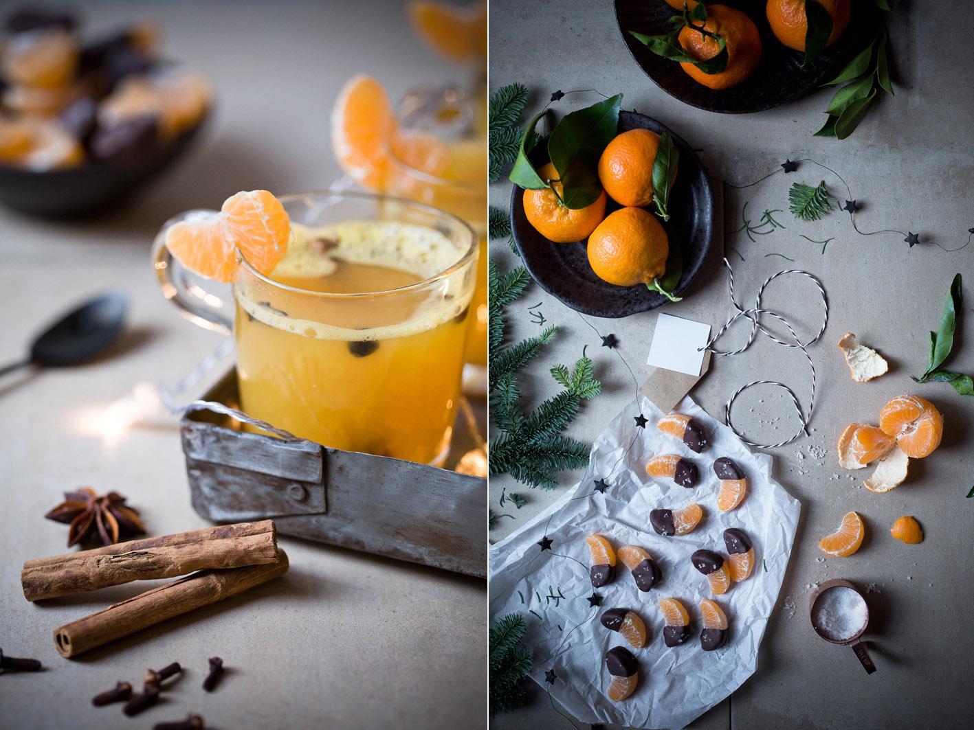 gluehwein mit mandarinen