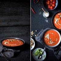 cremige Tomaten-Kokos-Suppe