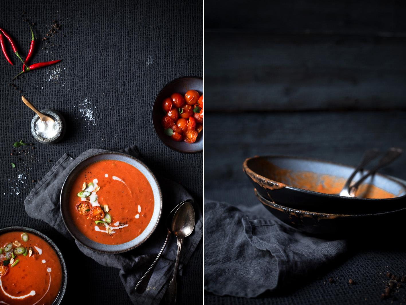 cremige tomatensuppe mit kokosmilch foodlovin 39. Black Bedroom Furniture Sets. Home Design Ideas
