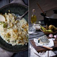 Cremiges Risotto mit Gorgonzola und Birne