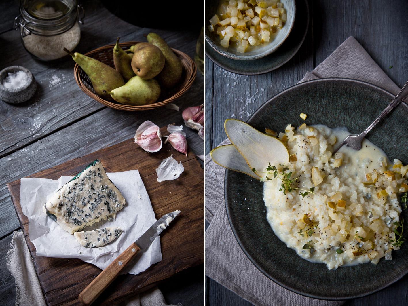 Cremiges Risotto mit Birne und Gorgonzola