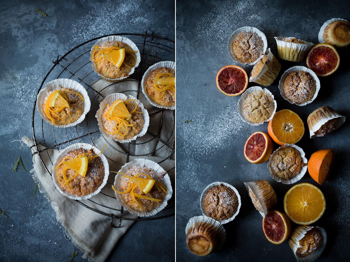 Muffins mit Orange und Joghurt