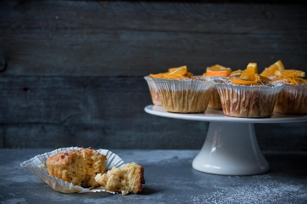 Orangenmuffins mit Joghurt