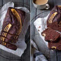 Schokoladen Banana Bread aus gesunden Zutaten
