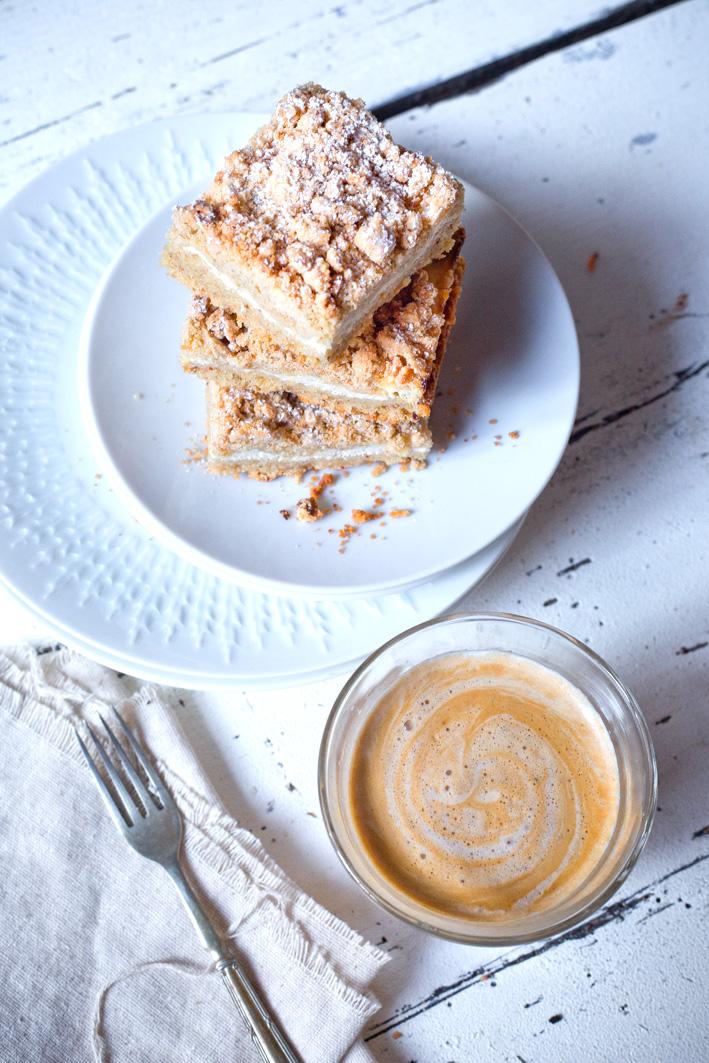 Streuselkuchen mit Quark, glutenfrei aus gesunden Zutaten