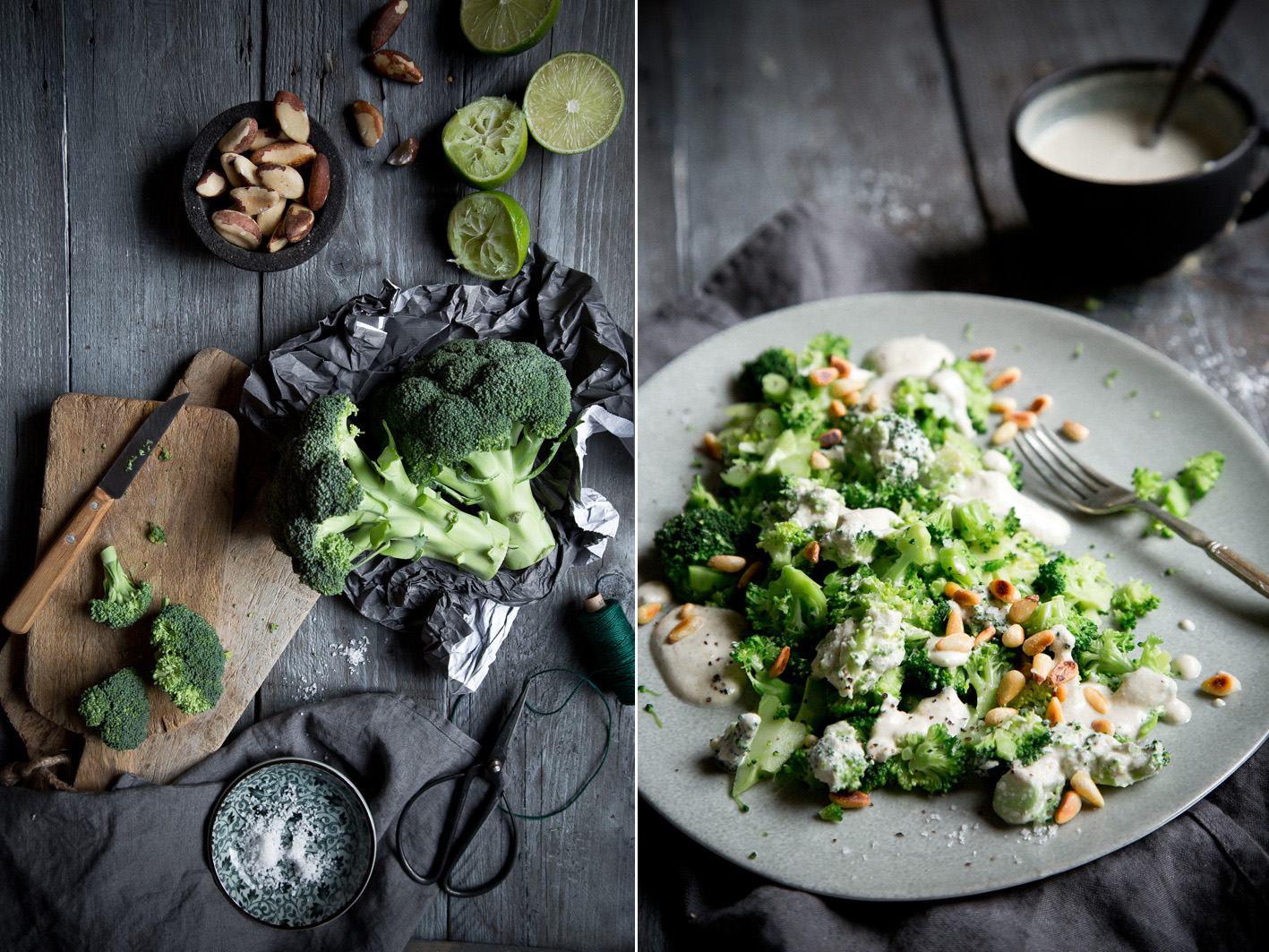 Rohkost Caesar's Salad mit Brokkoli