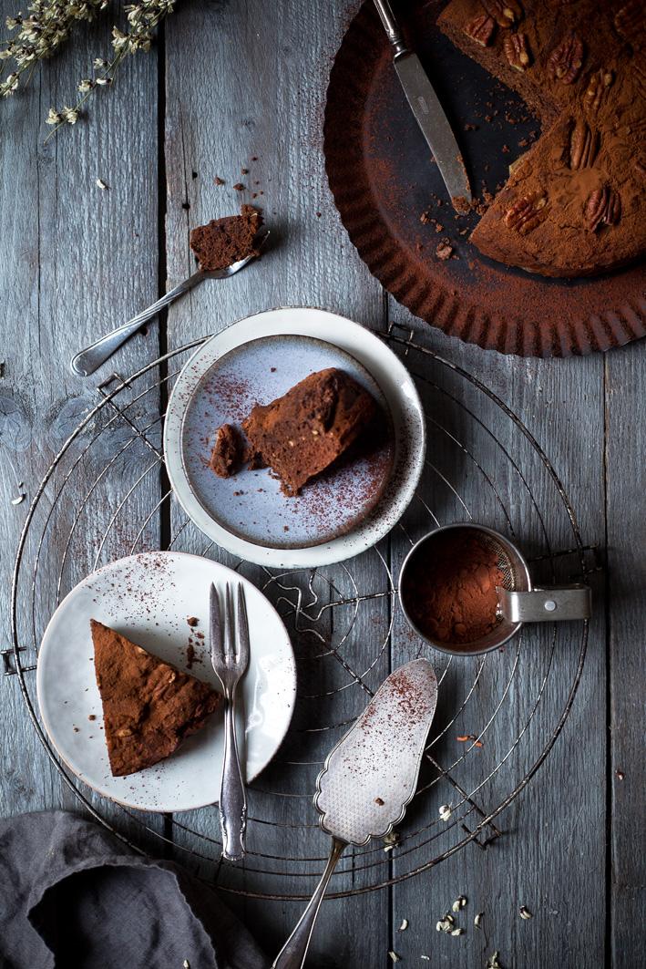 Feiner Dattel-Schokoladenkuchen