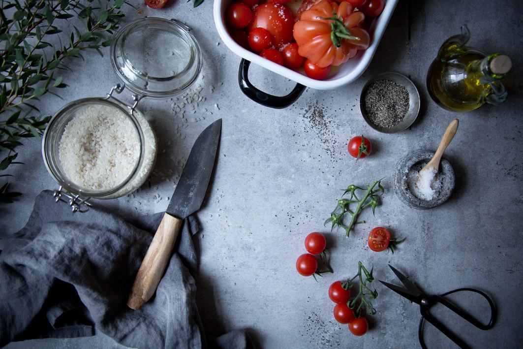 Zutaten für Tomatenrisotto