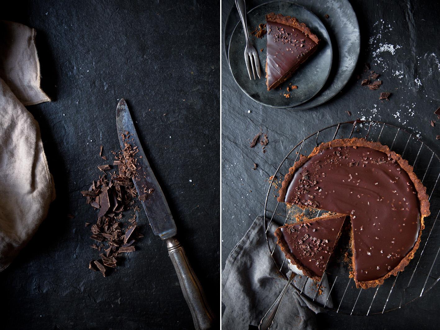 Schokoladentarte mit Dattelkaramell
