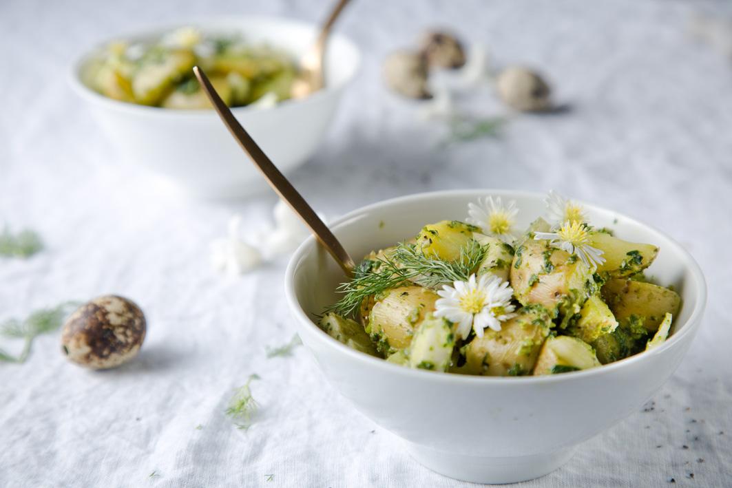 Grüner Kartoffelsalat mit Fenchel