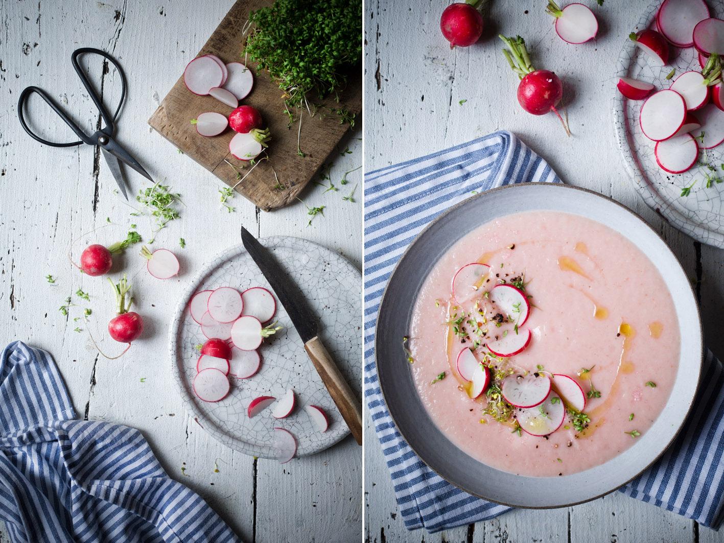 Frische und leichte Radieschensuppe