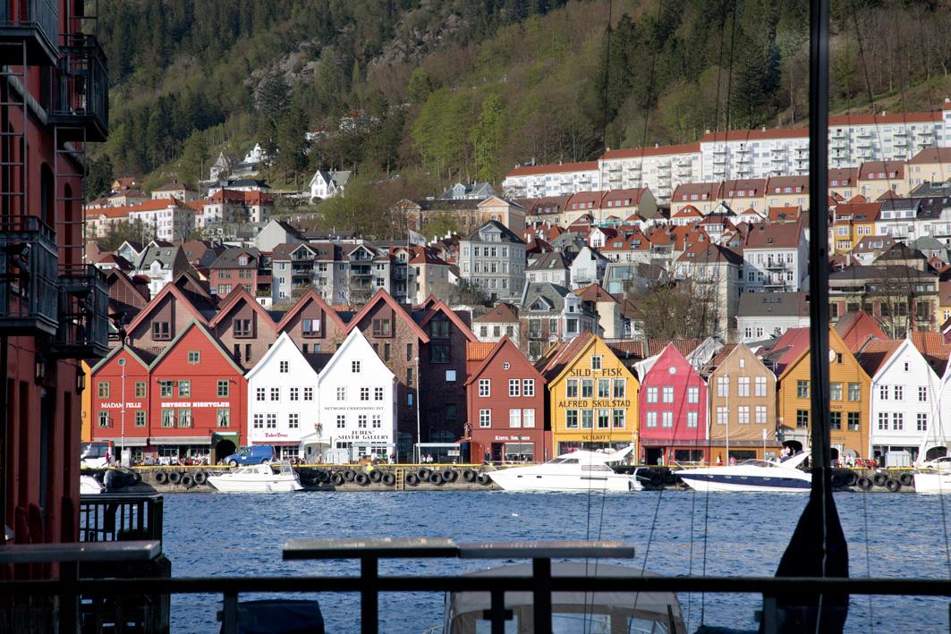 Ausblick auf Bryggen