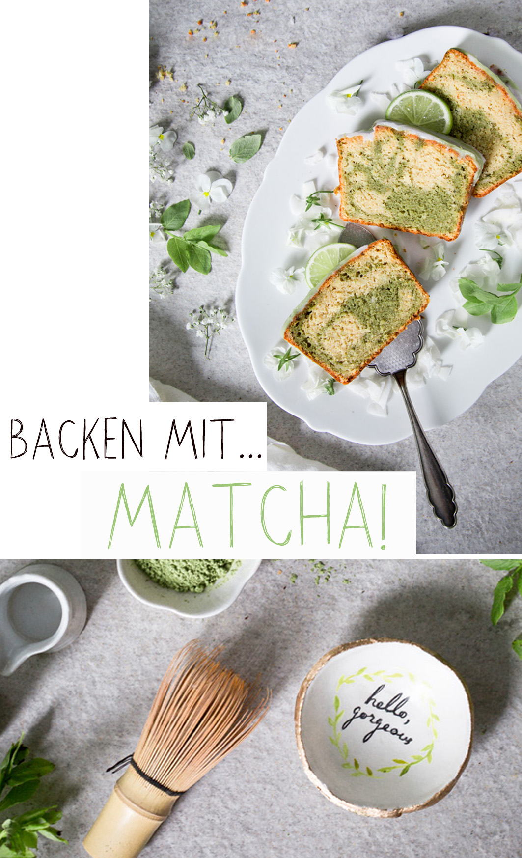 Backen mit Matcha