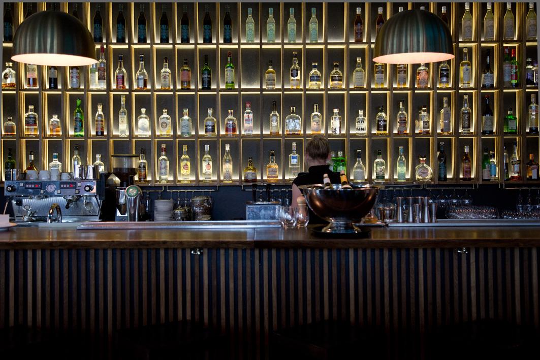 Bar im Restaurant Lysverket