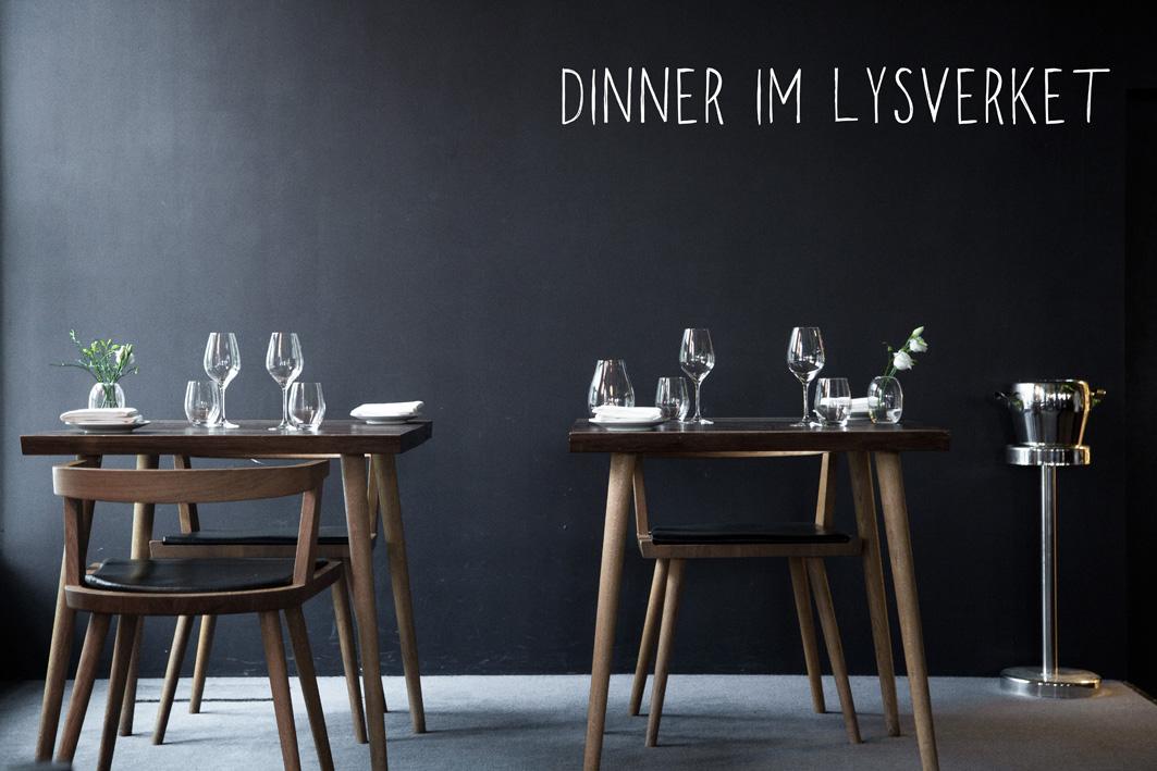 Dinner im Restaurant Lysverket