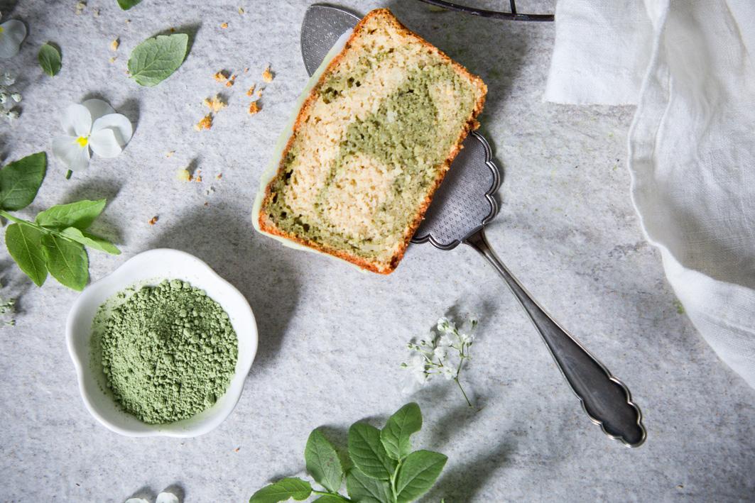 Matcha Marmor Kuchen
