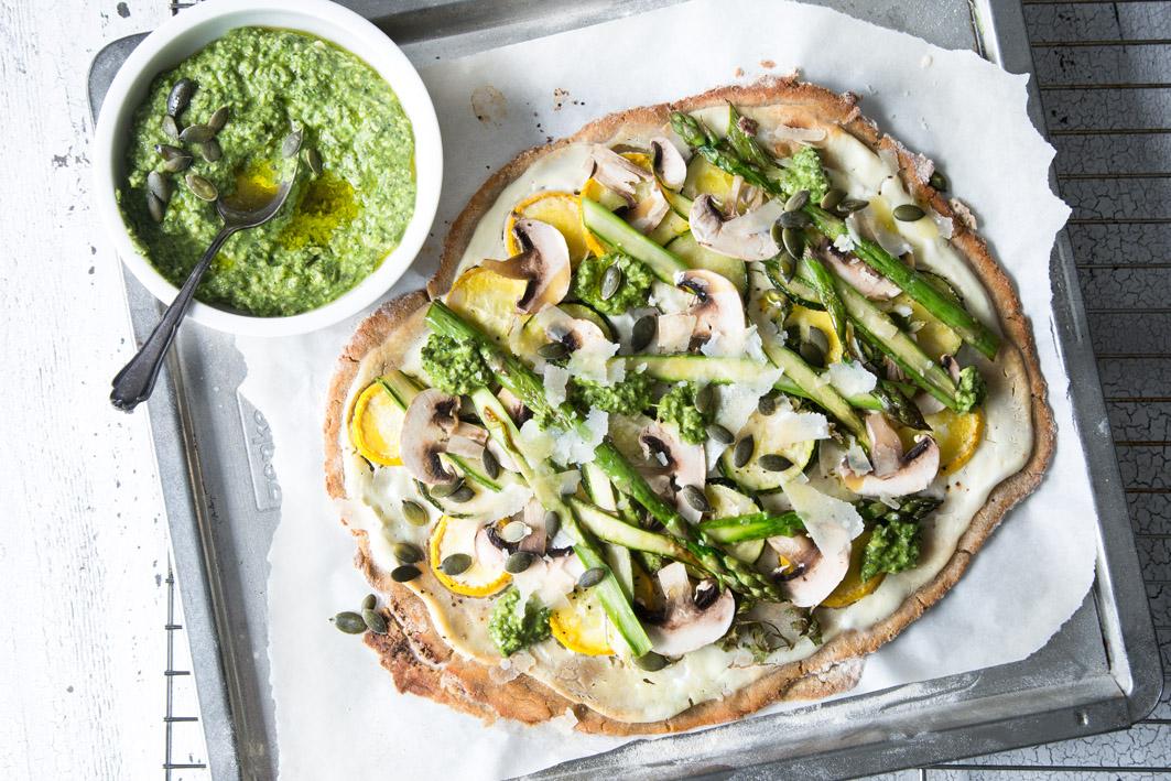 Sparger-Zucchini-Flammkuchen