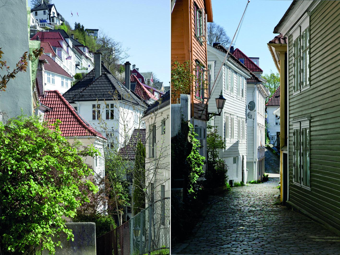 Villenviertel in Bergen