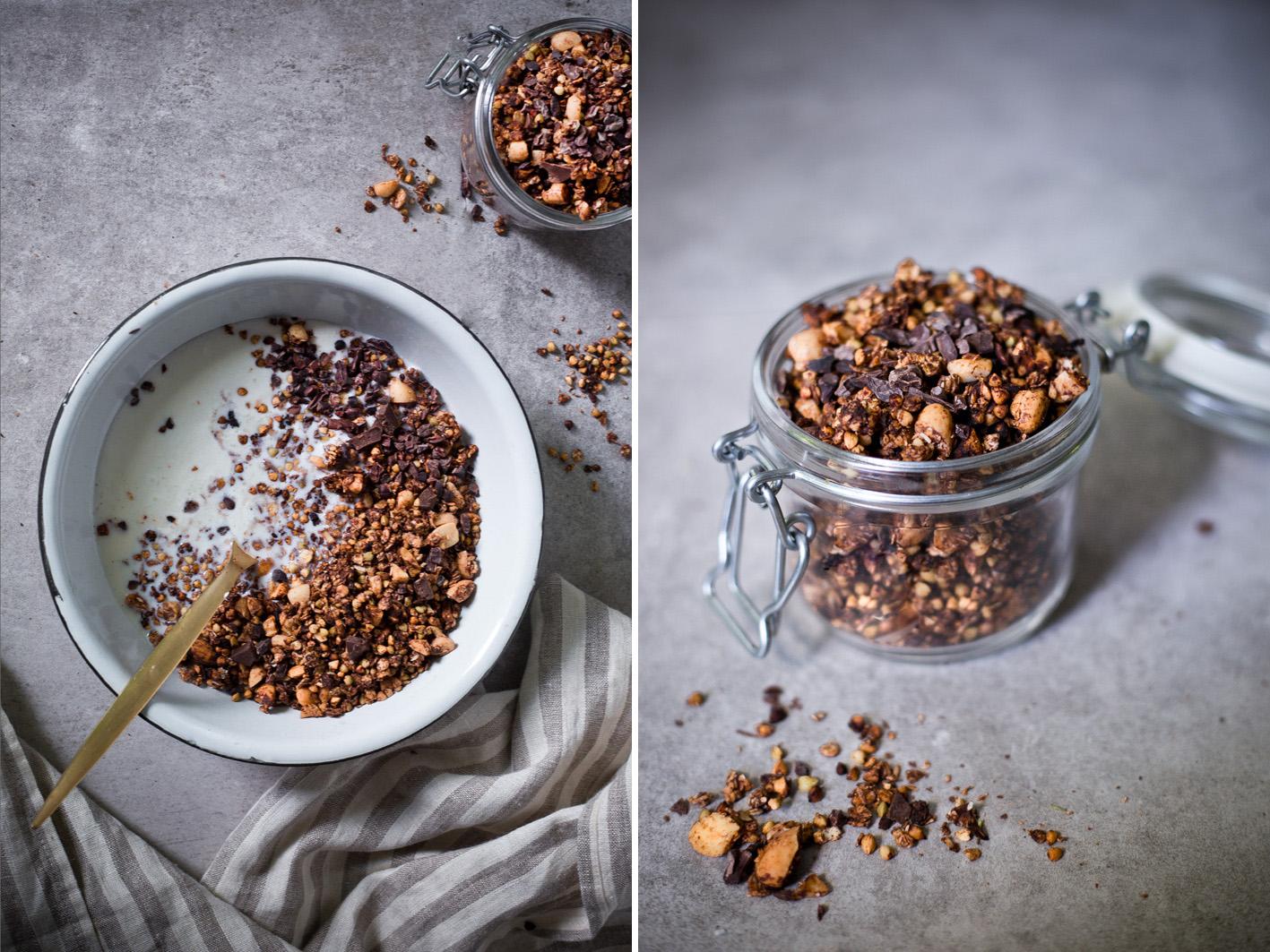 Glutunfreies Schokoladen Knuspermüsli