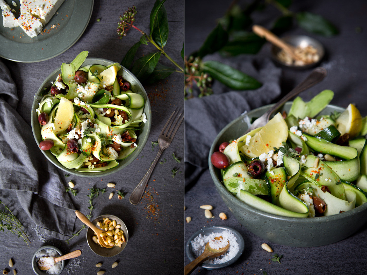 Rezept für rohen Zucchinisalat