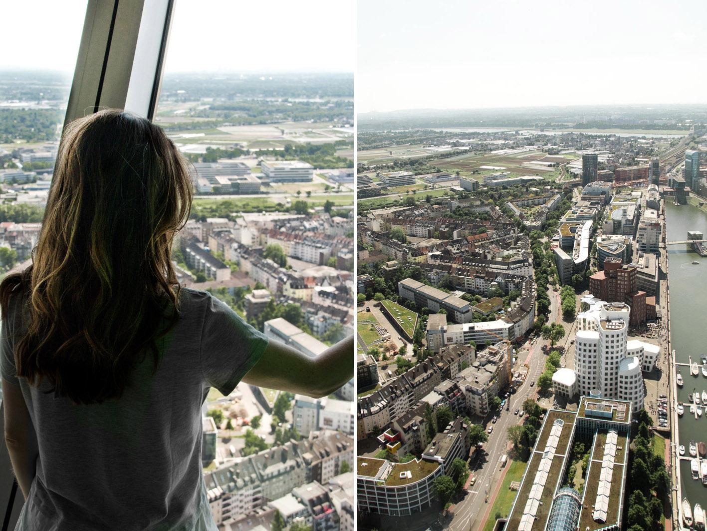 Ausblick vom Rheinturm Düsseldorf