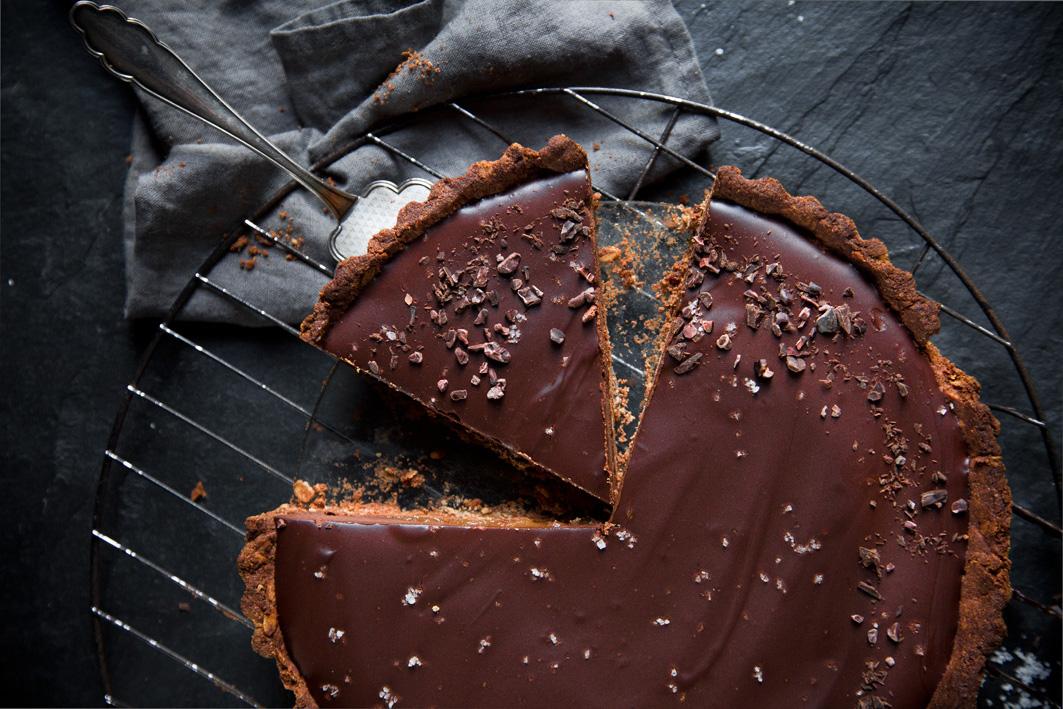 Vegane Schokoladentarte