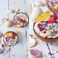 Nice Cream in Kokosnüssen