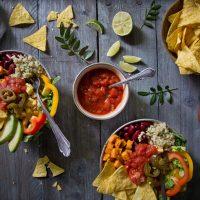 Mexikanische Taco Bowl