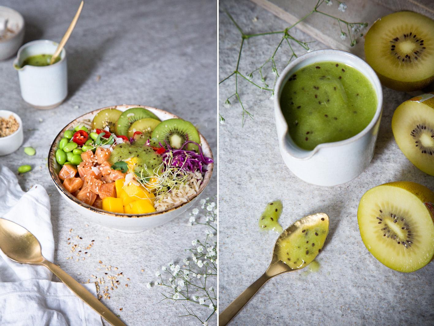 Poke Bowl mit Kiwi Sauce