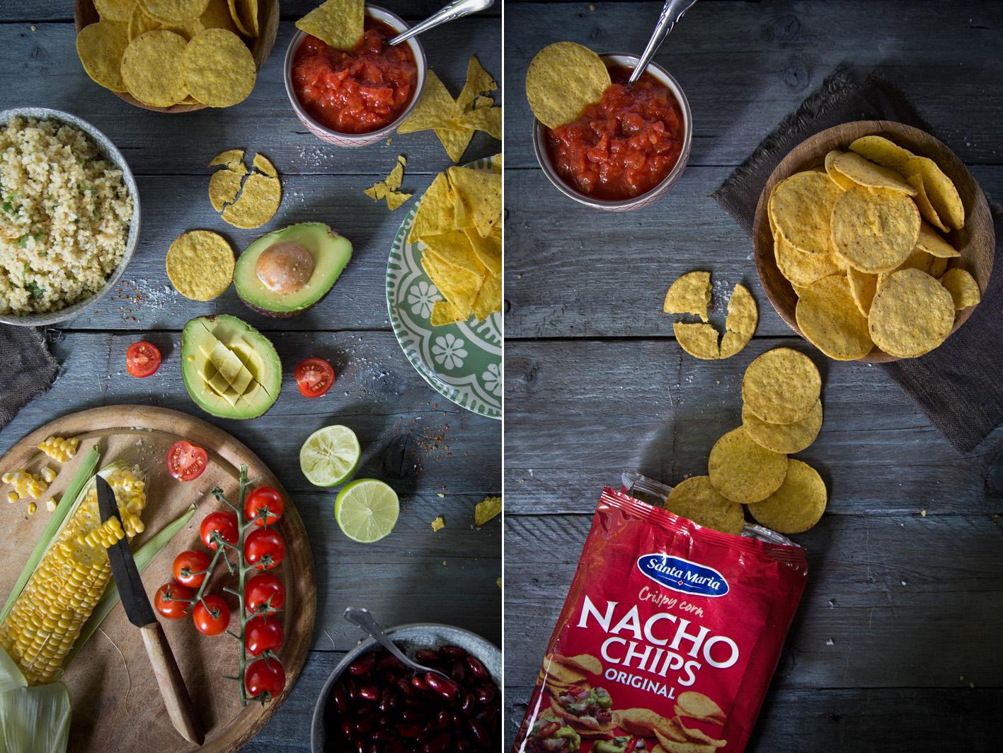 Salat mit Nachos Chips