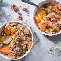 Aprikosen Pecan Crumble