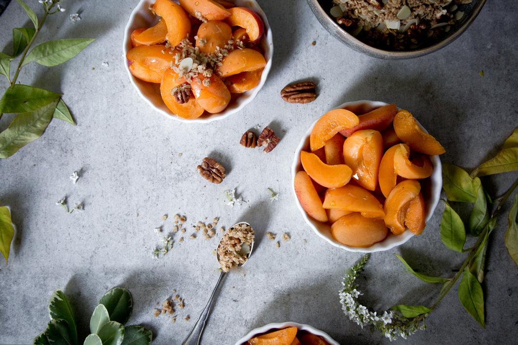 Aprikosen für Crumble