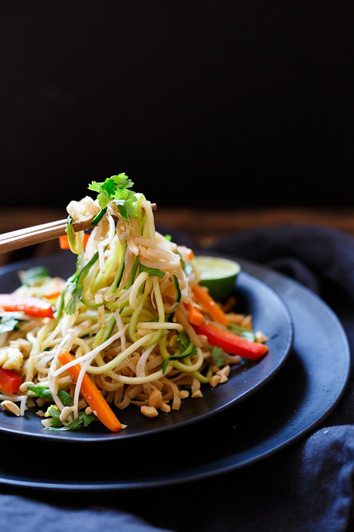 Einfaches Pad-Thai mit Erdnüssen