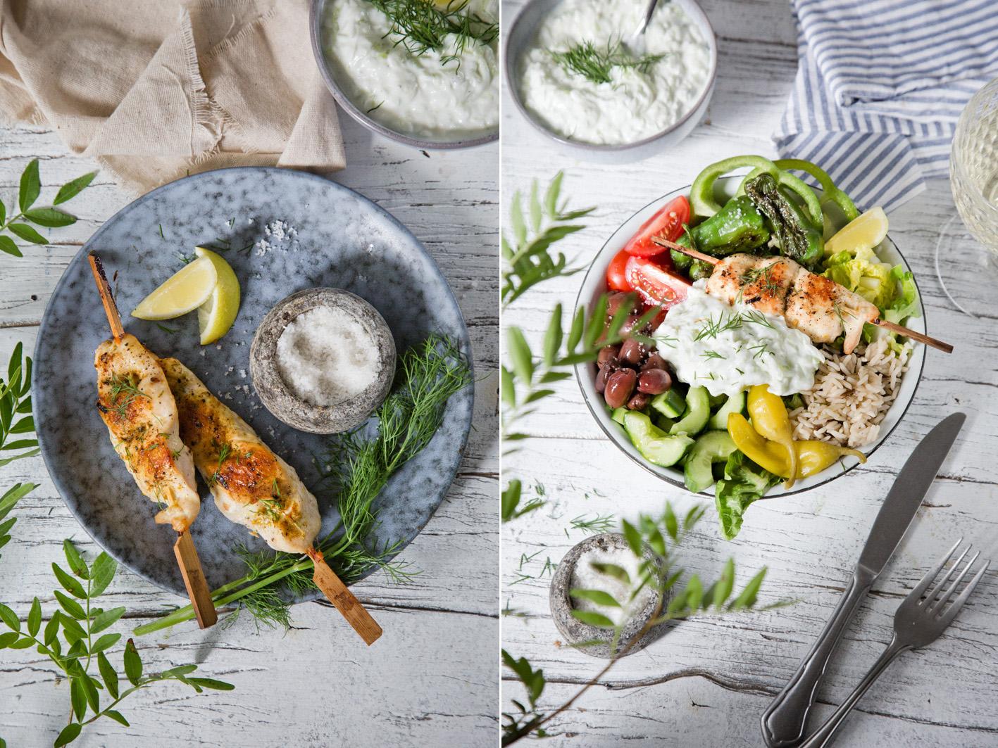 Rezept für griechische Tsatsiki Bowl