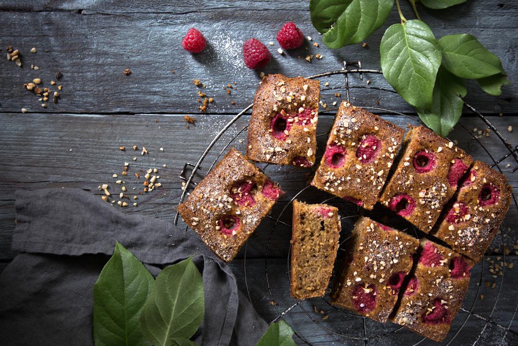 Haselnuss-Himbeer-Kuchen Rezept