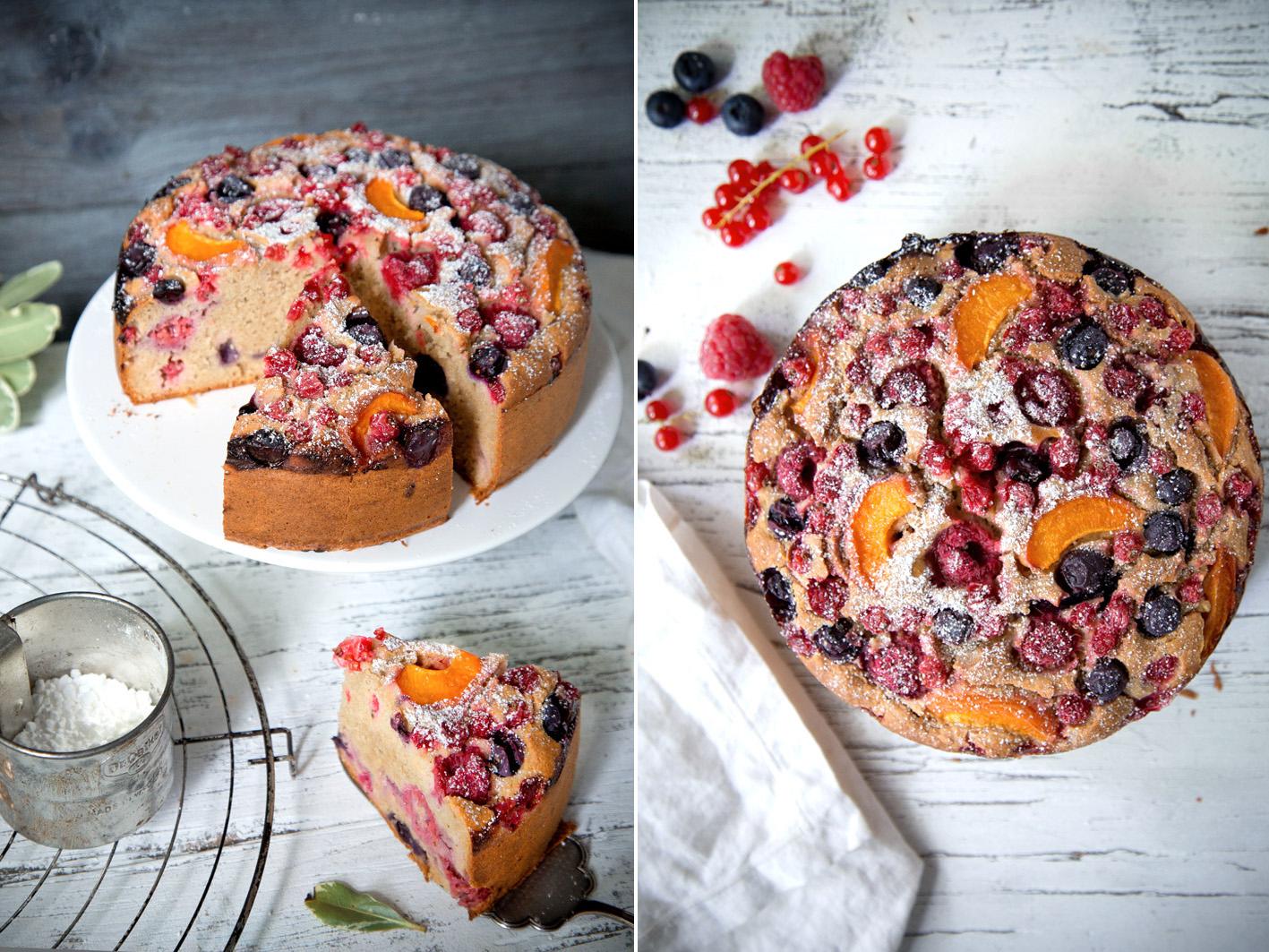 Einfacher schneller Obstkuchen