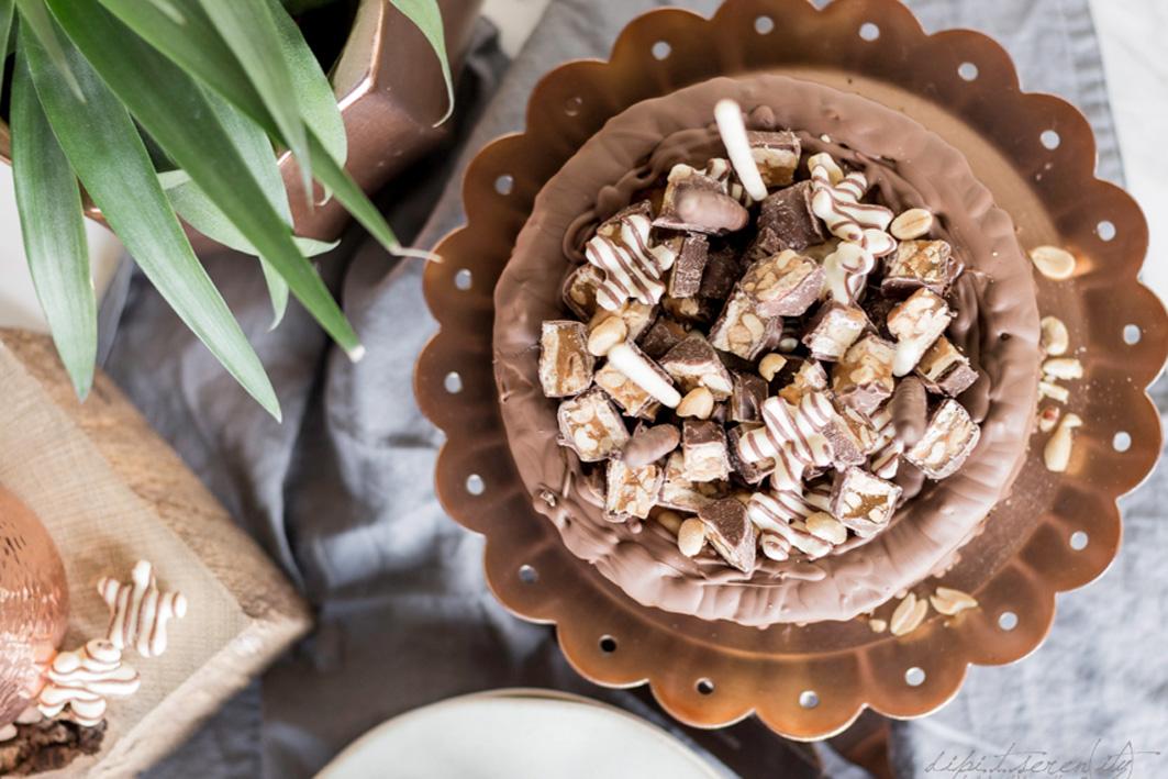Rezept für Snickers Cheesecake
