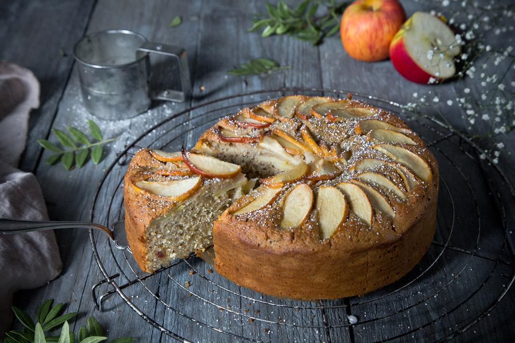 Apfelkuchen aus gesunden Zutaten