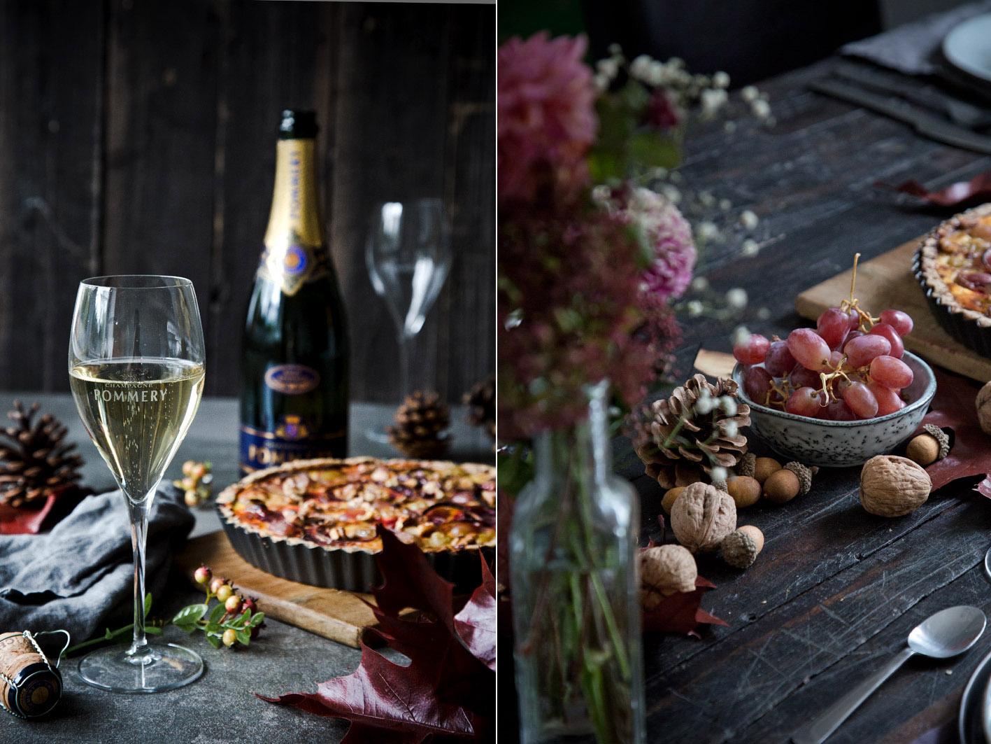 Herbstdinner mit Champagner