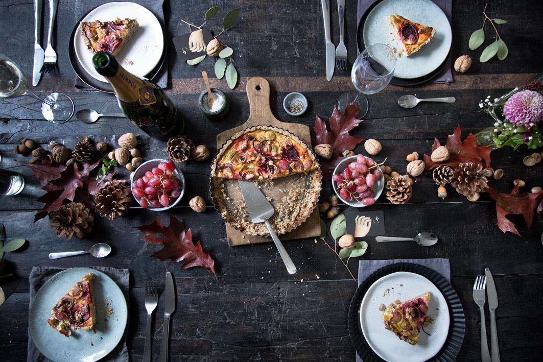 Herbstliches Dinner mit Quiche