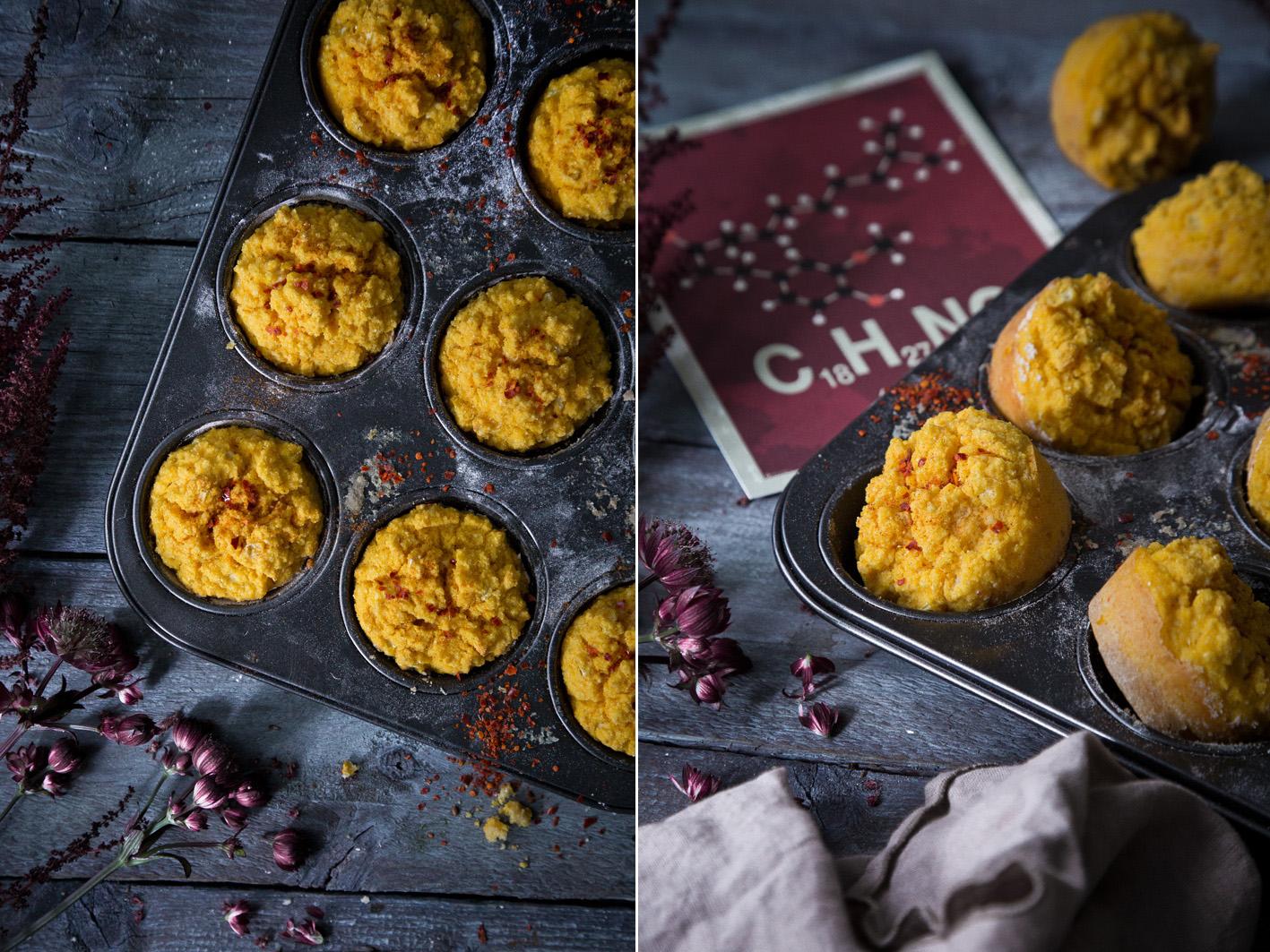 Süßkartoffel-Mais-Muffins mit Chili