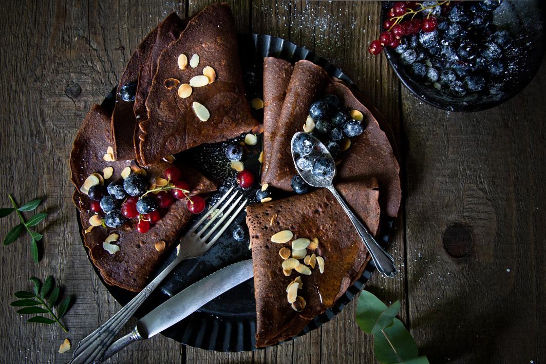 Gesunde Schokoladencrepes