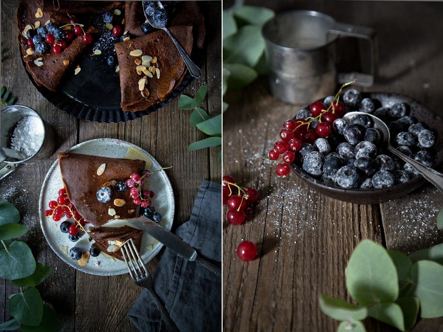 Glutenfreie Schokoladencrepes