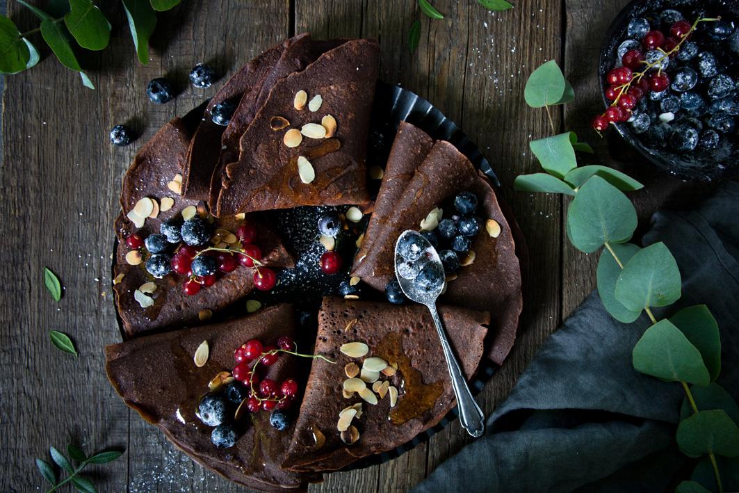 Schokoladencrepes mit Buchweizenmehl