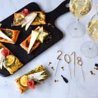 Blätterteigschnitten mit Champagner