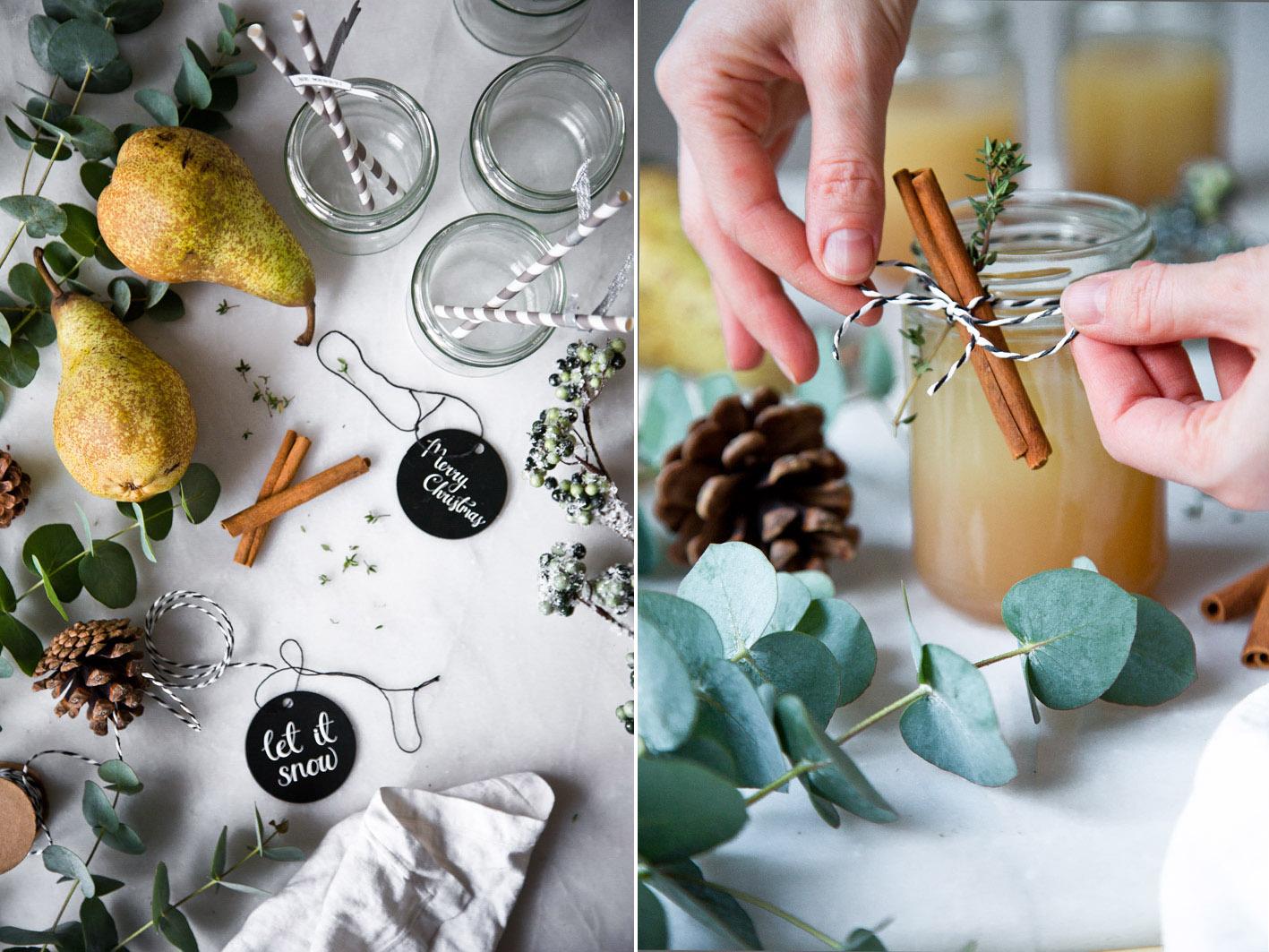 Weihnachtlicher Cocktail im Marmeladenglas
