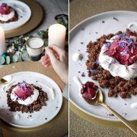 Weihnachtliches Dessert: Pflaumensorbet