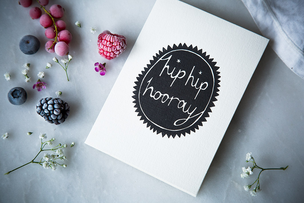 Glückwunschkarte Hurray